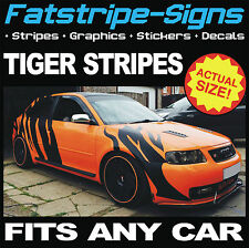 TIGER STRIPES VINYL GRAPHICS STICKERS DECALS AUDI MINI R32 GTI M3 S1 S3 VXR ST