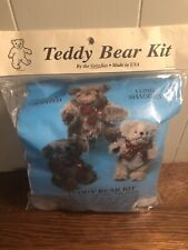 """The Grizzlies LONG SHAGGIES Teddy Bear Kit 17""""  Maple Sugar Brown Fully Jointed"""