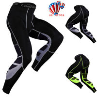 Mens GYM Workout Compression Running Sports Long Pants Base Layer Tight Leggings