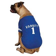 Zack & Zoey Blue Americana Pet Varsity T-Shirt, Size L