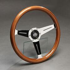 Holzlenkrad Sportlenkrad Holz Nabe Mercedes W107 W114 W115 W116 /8 Strich8 NEU