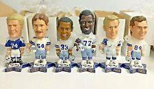 RARE Vintage New Lot Complete Set Of 6 Dallas Cowboys Bobble Head NFL 2001 Pepsi