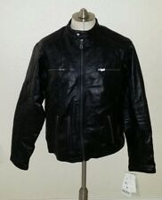 NWT Genuine Lamb Leather Black Jacket Slim Biker Cafe Racer Motorcycle Men M / L