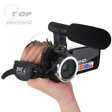 Full HD 1080P 24MP 3'' LCD Digital Camcorder Video Camera 18X Zoom DC5V USB Mic