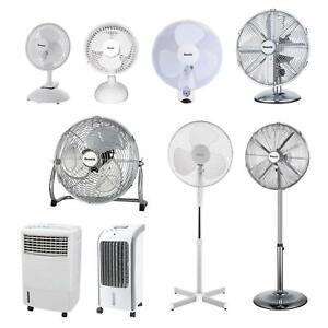 Portable Electric Cooling Fan Oscillating Standing Pedestal Desk Home Office