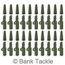 Lead Clips and Tail Rubbers Weedy Green 40 Piece Terminal Set Carp Fishing (JP1)
