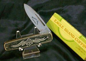 """Parker Cut Imai Knife """"Spirit Of America"""" Stainless Steel Body Heavily Ingraved"""