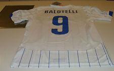 2014 Italy World Cup Soccer Football White Jersey M Puma Italia Mario Balotelli
