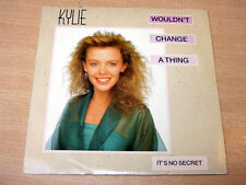 "EX !! Kylie Minogue/Wouldn't Change A Thing/1989 7"" Single"