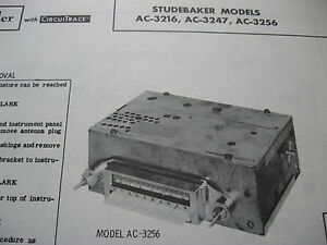 1962 STUDEBAKER LARK, HAWK AC-3216, AC-3247 & AC-3256 RADIO PHOTOFACT