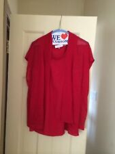 Calvin Klein Sleeveless Twinset Red  Size S/M  NWOT Retail 100.00