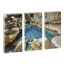 3 Bilder Kunstdruck auf Leinwand Poster Wandbilder Bild  3* 40 cm x 80 cm 328
