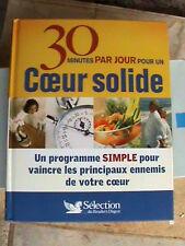 """Livre santé """"30 minutes par jour pour un coeur solide"""" sélection Reader's Digest"""