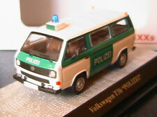 VW VOLKSWAGEN T3B TRANSPORTER BUS POLIZEI PREMIUM CLASSIXXS 13050 1/43 VITRE