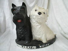Vintage Black & White Scotch Whiskey advertising display Scottie dogs terriers