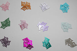 40 Pearlescent Fancy Photo Corner Die Cuts (Quickutz) Card Topper Embellishments