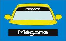 MEGANE Sunstrip AUTO Decalcomanie Adesivo Grafica, scegliere qualsiasi 2 colori dall' elenco