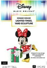 """27"""" Lighted Disney Minnie Mouse Sculpture Pre Lit Outdoor Christmas Decor Yard"""