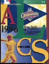 1996 ALCS Program New York Yankees v Baltimore Orioles NMT 43515