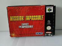 Mission Impossible Nintendo 64 N64 game- CIB UKV PAL - Boxed