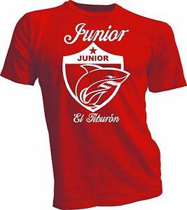 Junior de Barranquilla Colombia Futbol Soccer Camiseta T Shirt Tiburon handmade