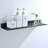 50cm Black Bathroom Shelf Wall Mount Shelves Space Saving Floating Storage Rack