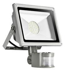 30W Kaltweiβ LED SMD Außen Strahler mit Bewegungsmelder Fluter Flutlicht IP65