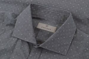 NWOT Current Canali 1934 Size Large Dress Shirt Gray White Italy Brand New