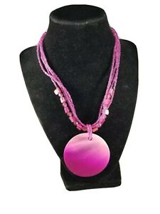 Pink Shell Beaded Necklace