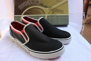SHOES/FOOTWEAR -Dunlop Twin Gussets Canvas Black/red/white