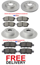 FOR NISSAN JUKE 1.5 DCi 1.6 (2010-2014) FRONT & REAR BRAKE DISCS & PADS SET NEW