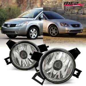 For 05-06 Nissan Altima PAIR OE Factory Fit Fog Light Bumper Kit Clear Lens