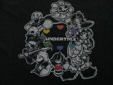 Undertale Video Game Black White Heart T Shirt Size L Large