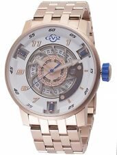 GV2 By Gevril 1302B Men's Motorcycle Sport Rose-Gold IP Steel Exhibition Watch