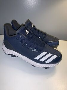 Adidas Womens Softball Cleats Icon Bounce Navy White Low Size 5