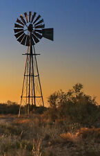 Australia  WINDMILL  OUTBACK Landscpe CANVAS OR  PHOTO  art Print licensed image