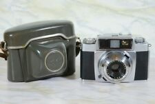 VINTAGE AGFA SILETTE SLE AUTOMATIC CAMERA IN GREY LEATHER CASE GERMANY