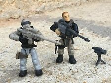 Special Forces Sniper Green Army Minifigs 1&4 Goes W/Most LEGO / Mega Bloks Sets