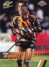 ✺Signed✺ 2008 WESTS TIGERS NRL Card JOHN MORRIS Centenary