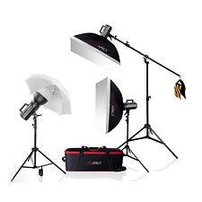 Studio Flash Kit Nude Portrait Fashion Lighting Set Bowens School Photo 600Ws