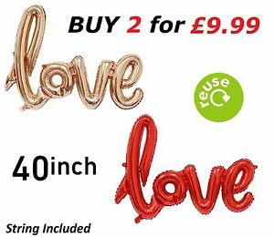 """ROSE GOLD RED 40"""" FOIL PARTY BALLOON WEDDING ENGAGEMENT ANNIVERSARY DECORATION"""