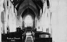 POSTCARD   BERKSHIRE    BISHAM   Church    (  Interior )  RP