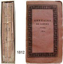 Annuaire statistique historique administratif de l'Orne 1812 cartes gravures etc