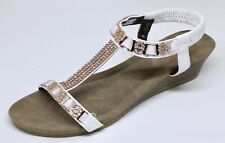 Women's Super Comfy Sandals Wedge Open Toe Bling
