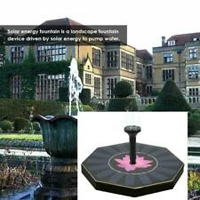 Water Floating Pump Solar Octagon Fountain Pool Garden Plant Watering Tool