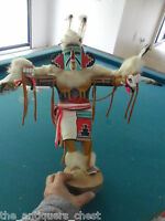 "Kachina Katsina ""Eagle"" by M. Boyo,  Hand carved and painted ""Eagle"" carving"