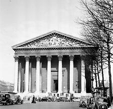 PARIS c.1939 - Autos  La Madeleine - Négatif 6 x 6 - N6 P74