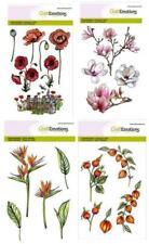 Stempel Blumen Blüten Mohn Lampion, Clear Stamps aus Silikon, Craftemotions