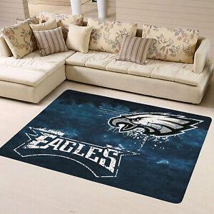 Philadelphia Eagles Flannel Area Rug Living Room Bedroom Home Floor Mat Carpet