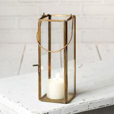 Hayworth thin Candle Lantern in Antique Brass